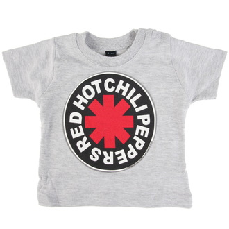 tričko dětské Red Hot Chili Peppers - Logo in Circle - Grey