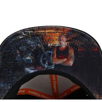 kšiltovka ORANGE COUNTY CHOPPERS - Paul Senior - Black/Grey/Orange