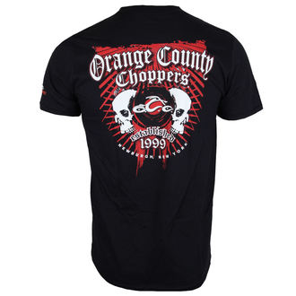 tričko pánské ORANGE COUNTY CHOPPERS - Two Skulls - Black