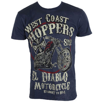 tričko pánské West Coast Choppers - WCC EL DIABLO - VINTAGE BLUE, West Coast Choppers