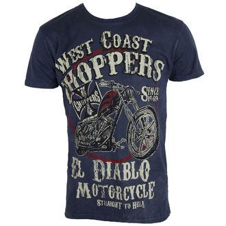 tričko pánské West Coast Choppers - WCC EL DIABLO - VINTAGE BLUE - WCCTS132621BL