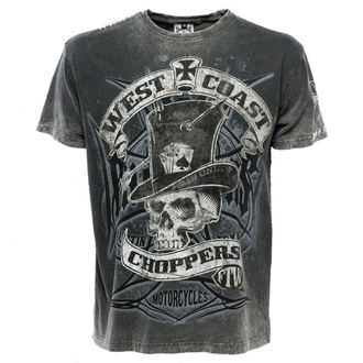 tričko pánské West Coast Choppers - WCC CASH ONLY - BLACK/GREY, West Coast Choppers