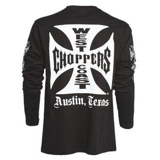 tričko pánské s dlouhým rukávem West Coast Choppers - WCC OG CROSS LONG SLEEVE -  BLACK - WCCLS001ZW