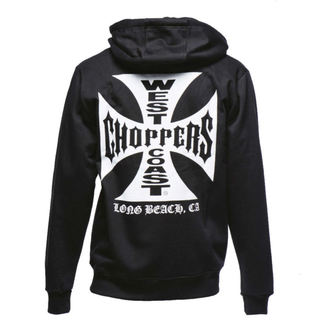 mikina pánská West Coast Choppers - Iron Cross Hoodie Zip - Black