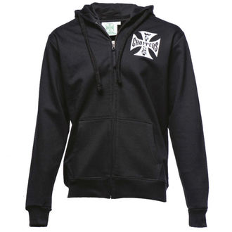 mikina pánská West Coast Choppers - Iron Cross Hoodie Zip - Black, West Coast Choppers