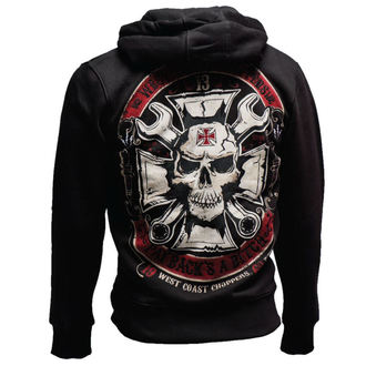 mikina pánská West Coast Choppers - MECHANIC ZIP HOODY - BLACK, West Coast Choppers