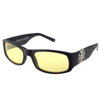brýle West Coast Choppers - WCC GANGSCRIPT -  MATTE BLACK YELLOW, West Coast Choppers