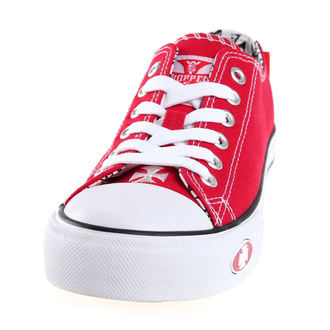 boty West Coast Choppers - WARRIOR LOW-TOP - RED, West Coast Choppers