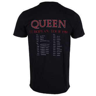 tričko pánské Queen - European Tour 1984 - ROCK OFF, ROCK OFF, Queen