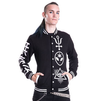 mikina pánská HEARTLESS - DEALER VARSITY - BLACK, HEARTLESS