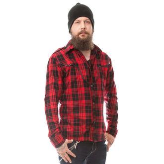 košile pánská VIXXSIN - DOWN TOWN - RED - POI268