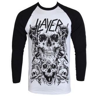 tričko pánské s dlouhým rukávem Slayer - Skulls Raglan - ROCK OFF, ROCK OFF, Slayer