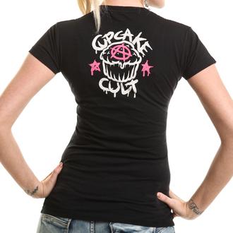 tričko dámské Cupcake Cult - PONY MUERTE - Black, CUPCAKE CULT