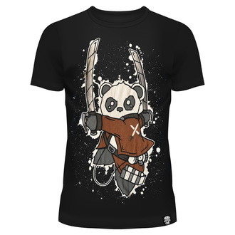 tričko dámské Killer Panda - ATTACK ON PANDA - BLACK - POI316