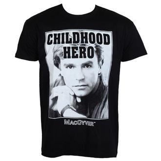 tričko pánské MacGyver - Childhood Hero - Black - HYBRIS, HYBRIS