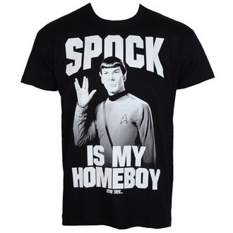 tričko pánské Star Trek - Spock Is My Homeboy - Black - HYBRIS - CBS-1-ST014-H39-13-BK