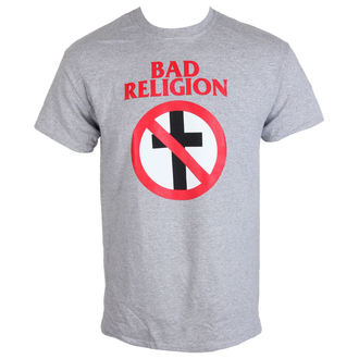 tričko pánské Bad Religion - Crossbuster Heather Gray - KINGS ROAD