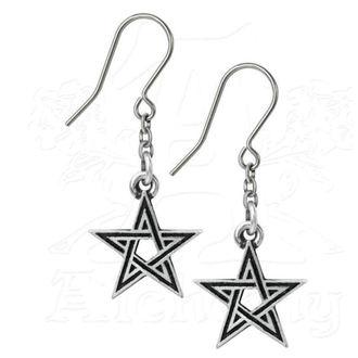 náušnice ALCHEMY GOTHIC - Black Star, ALCHEMY GOTHIC