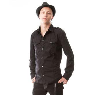 košile pánská Vixxsin - TORN - BLACK - POI352