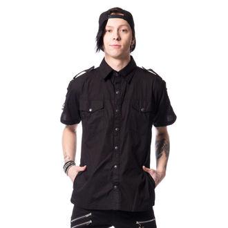 košile pánská Vixxsin - THORIN - BLACK - POI347