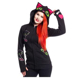 mikina dámská Cupcake cult - BLACK CAT - BLACK