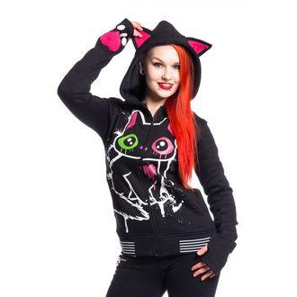 mikina dámská Cupcake cult - KITTY MASE - BLACK