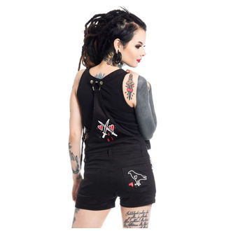kraťasy dámské Heartless - ANTI LOVE BIB AND BRACE - BLACK - POI340