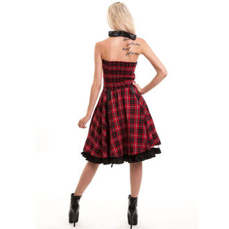 šaty dámské Vixxsin - RADIANCE - RED CHECK, VIXXSIN