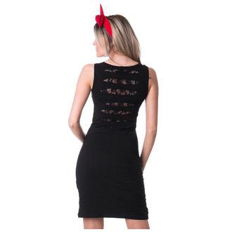 šaty dámské VIXXSIN - CROW - SLASHER - BLACK