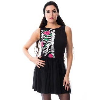 šaty dámské Vixxsin - RIB N ROSE - BLACK