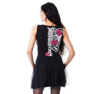 šaty dámské Vixxsin - RIB N ROSE - BLACK, VIXXSIN