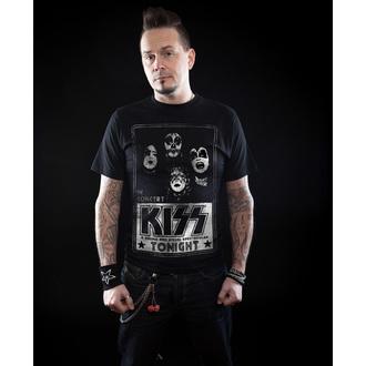 tričko pánské KISS - In Concert Distressed - HYBRIS - ER-1-KISS001-H68-7-BK
