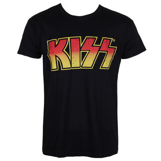 tričko pánské KISS - Distressed Logotype - HYBRIS, HYBRIS, Kiss