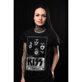 tričko dámské KISS - In Concert Distressed Poster - HYBRIS, HYBRIS, Kiss
