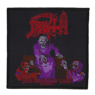 nášivka DEATH - SCREAM BLOODY GORE - RAZAMATAZ - SP2352