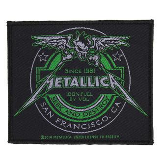 nášivka METALLICA - BEER LABEL - RAZAMATAZ, RAZAMATAZ, Metallica