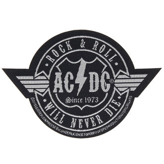 nášivka AC/DC - ROCK ´N´ ROLL WILL NEVER DIE CUT-OUT - RAZAMATAZ, RAZAMATAZ, AC-DC