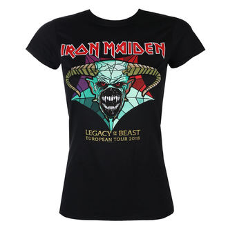 tričko dámské Iron Maiden - Legacy of the Beast European Tour 2018 - ROCK OFF, ROCK OFF, Iron Maiden
