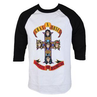 tričko pánské Guns N' Roses - AFD RAGLAN-WHITE/BLACK - BRAVADO, BRAVADO, Guns N' Roses