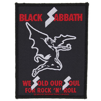 nášivka BLACK SABBATH - SOLD OUR SOULS - RAZAMATAZ, RAZAMATAZ, Black Sabbath