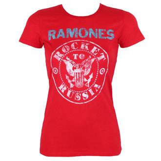 tričko dámské RAMONES - ROCKET RUSSIA - RED - BRAVADO, BRAVADO, Ramones