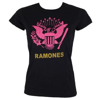 tričko dámské RAMONES - PINK EAGLE - BLACK - BRAVADO, BRAVADO, Ramones