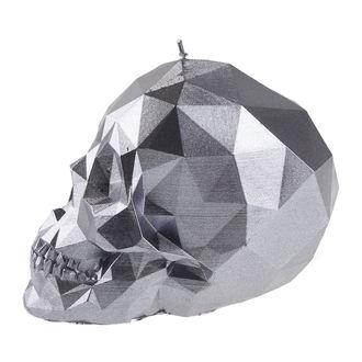 svíčka Skull - Steel