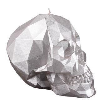 svíčka Skull - Silver
