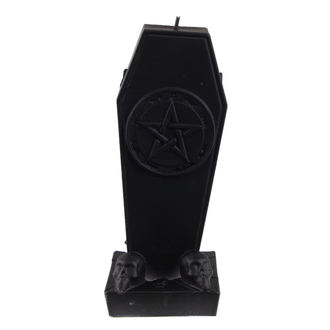 svíčka Coffin with Pentagram - Black Matt