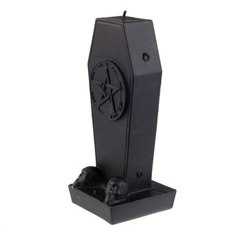 svíčka Coffin with Pentagram - Black Matt