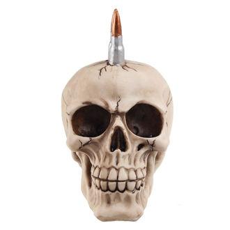 dekorace (pokladnička) Skull with bullets