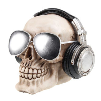 dekorace (pokladnička) Skull with earphones & sunglasses - 78/5736