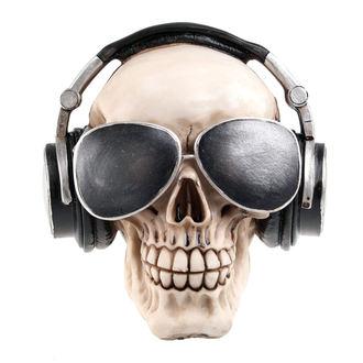 dekorace (pokladnička) Skull with earphones & sunglasses