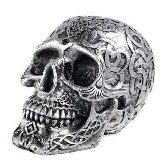 dekorace (pokladnička) Mystic Ornament Skull - Dark silver, NNM
